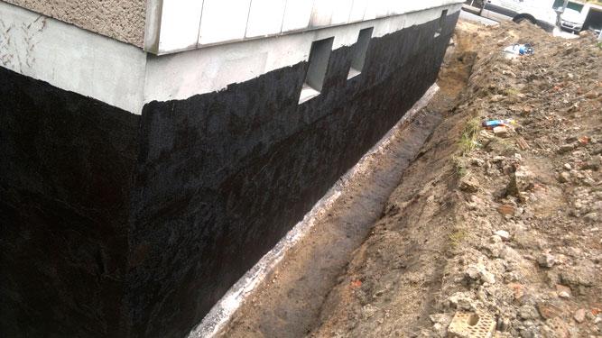 kellerisolierung drainage fachgerechte aussenisolierung